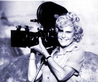 Leni Riefenstahl, in her 70