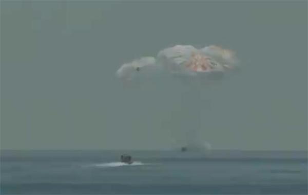 Космический корабль Crew Dragon  благополучно приводнился в Мексиканском заливе