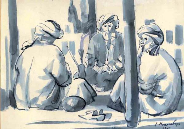Большая задница рисунки художников