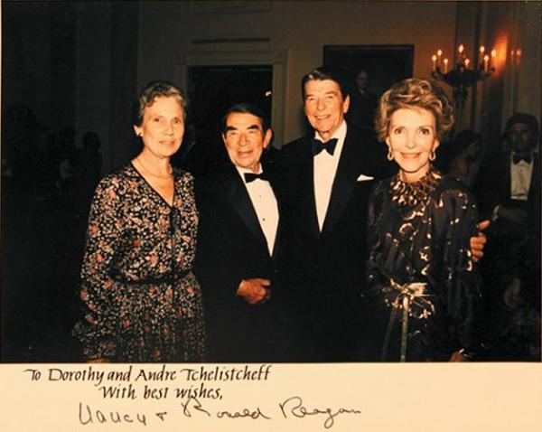 В Белом доме: Андрей и Дороти Челищевы, Рональд и Нэнси Рейган (1984)