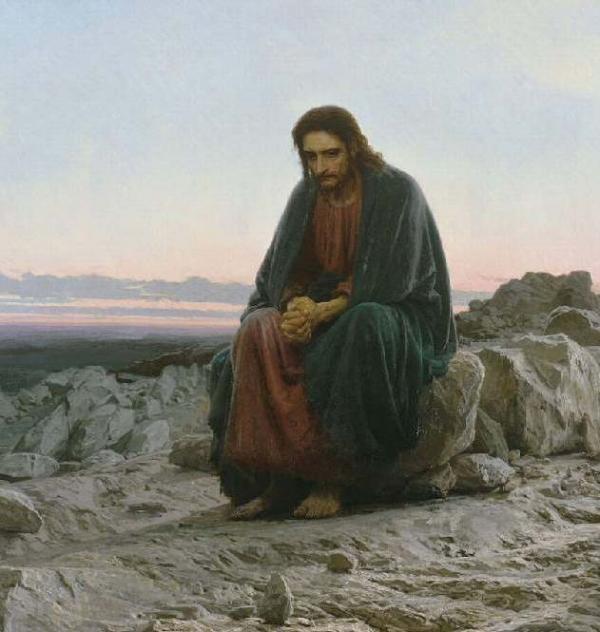 Иван Крамской. Христос в пустыне. 1872